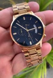 Título do anúncio: Relógio Nibosi todo funcional . Acabamento impecável.