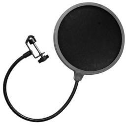 Pop Filter Anti Puff Para Microfone Condensador Studio Kelter- Rf Informatica