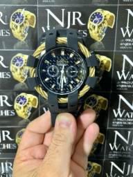 Relógio Invicta bolt sport cordinha dourada novo