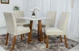 Título do anúncio: Mesa Vitra Com 4 Cadeiras Bia  -Frete Grátis - Receba Amanhã Mesmo!