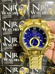 Relógio Invicta bolt azul banhado novo
