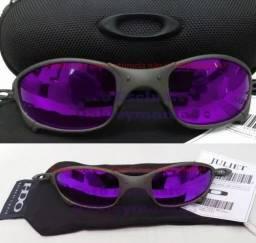 Oculos De Sol Juliet Roxa 24k Double X Penny Tio2 + Estojo  ( ORIGINAL ) <br><br>