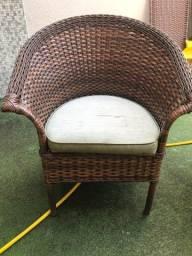 Jogo de 4 cadeiras de fibra