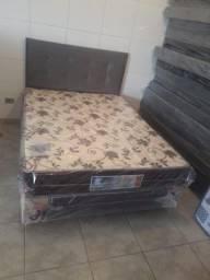 Cama box casal ( base + colchão) produto novo * frete grátis