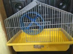 Gaiolinha para hamster, com bandeja c roda giratoria 30x23x17