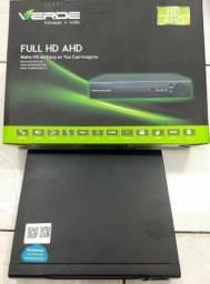 DVR Full HD/AHd 8 Canais (5 em 1) DVR Digital Video Recoder Verde (Novo)