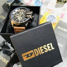 Relógio Diesel Masculino Pulseira Couro Personalizada - Aproveite!!