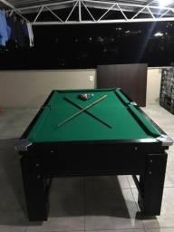 Mesa Gaveta de Sinuca Cor Preta Tecido Verde Mod. UVLX4905