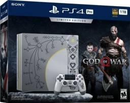 Vendo PS4 PRO 1TB 4K Edição Especial God Of War Novo caixa lacrada