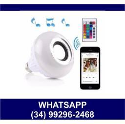 Entrega Grátis * Lâmpada Som Bluetooth Led Com Controle * Chame no Whats