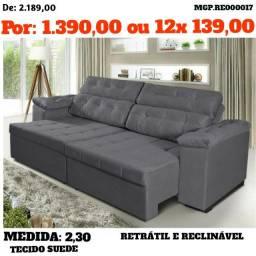 Liquida Presidente Prudente - Sofa Retratl e Reclinavel 2,30 - Direto da Fabrica