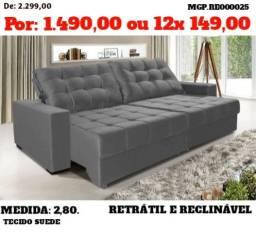 Promoção em Presidente Prudente - Sofa Retratil e Reclinavel de 2,80 - Direto da Fabrica