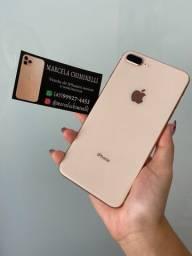 IPhone 8 Plus 64gb 3 meses de garantia impecável zero