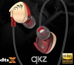 Fone QKZ kz Wing c/ microfone volume ótima qualidade de som retorno palco dj games