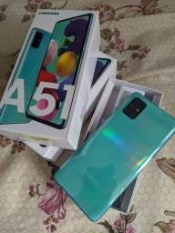 Samsung A51 (Azul e Preto)