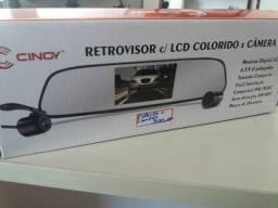 Espelho retrovisor LCD colorido e câmera de ré nova