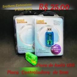 Placa Controladora de Audio, usado comprar usado  Campo Grande