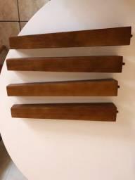 Pés de madeira para poltrona