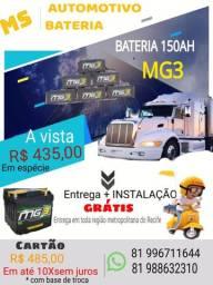 Bateria automotiva 150ah R$435,00