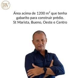 Compro área de 1200m² no Setor Oeste, Bueno, Marista ou Centro
