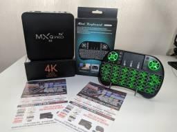 Lançamento 4k 8/64 Gb - Transforme sua TV/Smart TV em Android TV  - Android 10 TV Box 5G