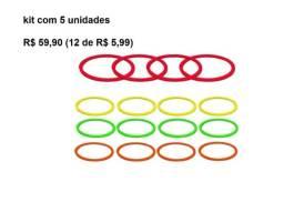 Kit com 5 Argolas De Agilidade Funcional Circuito Treinamento x 12 de R$ 5,99 x