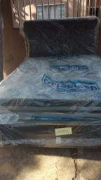 Cama box acoplado e colchao e base