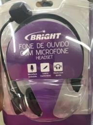 Fone de ouvido com microfone Headset RJ12