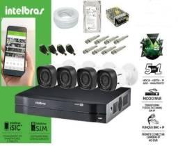 Câmeras Intelbras com instalação