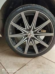Troco roda 17 pneus semi novos  por jogo de rodas 14 ou 15 pego volta 65 99240 96 71