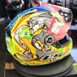 Capacete para moto LS2 Alex Barros yellow