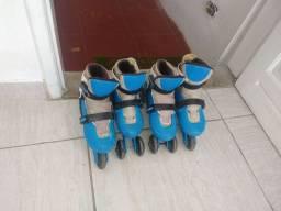 Vendo dois pares de patins usados