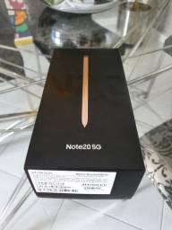 Sansung note 20 256gb 8 ram bronze lacrado