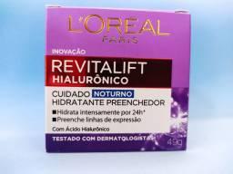 Creme Anti-idade L'Oréal Paris - Revitalift Hialurônico Noturno<br><br>