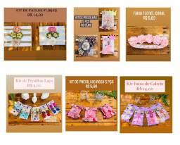 Kits de Presilhas e Faixas de Cabelo para Bebê