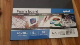 2 Placas Foam Board - 45x30cm 5mm - Spiral Maquetes Escolares