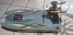 Lanchinha rc completa motor os 46fx novo servos de metal top rádio pistola kit completo