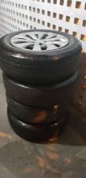 Jogo de roda de ferro aro 15 ( 5 furos )