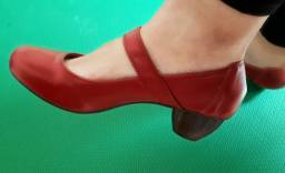 Sapato Maxiconfort de couro vgt vermelho