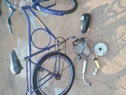 Bicicleta e motor 80cc