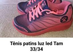 Tênis com rodinha Tam 33 por R$ 40