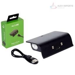 Kit bateria + carregador Xbox Recarga Enquanto joga Barato Novo