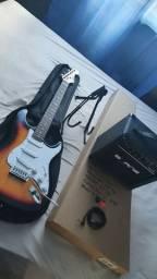 Guitarra Elétrica Land Completa Seminova na Caixa IMPERDÍVEL