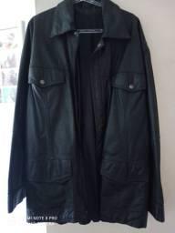 Jaqueta de couro legítimo preto
