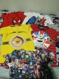 5 camisas menino