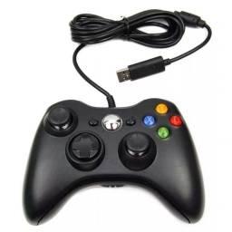 Controle Joystick Xbox E Pc Com Fio