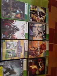 Xbox 360  jogo separados se vim pusca do um jogo n levo 500 o xbox 700 com todos os jogos