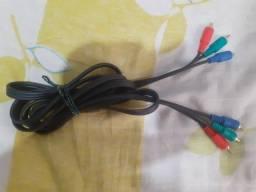 Cabo Rca Video Componente Conexão Verde Azul E Vermelho em otimo estado