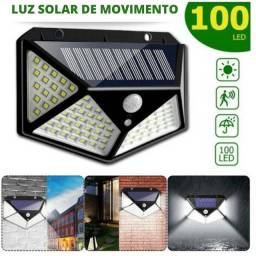 Lâmpada Solar Sensor de Movimento 100 LEDS (NOVO) * 7-