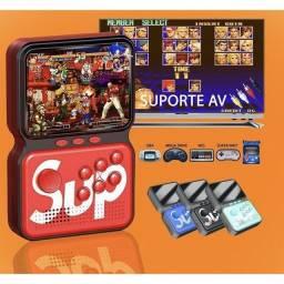 Mini Game Portátil M3 Sup 900 Jogos Bateria Recarregável e Cartão de Memória